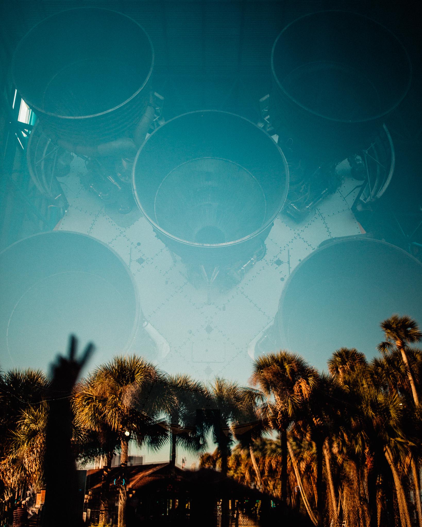 saturn IV rocket reflection