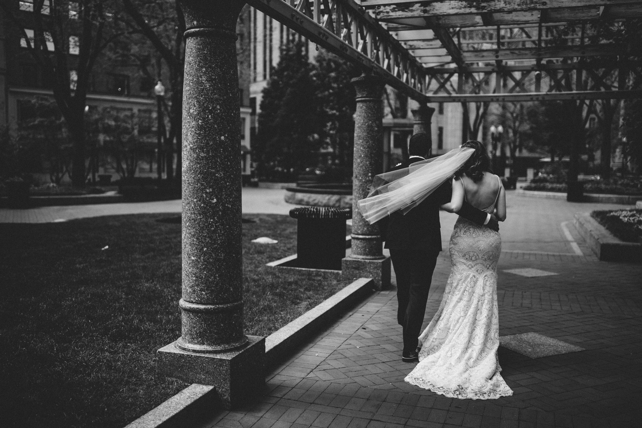 bride and groom married at boston elopement