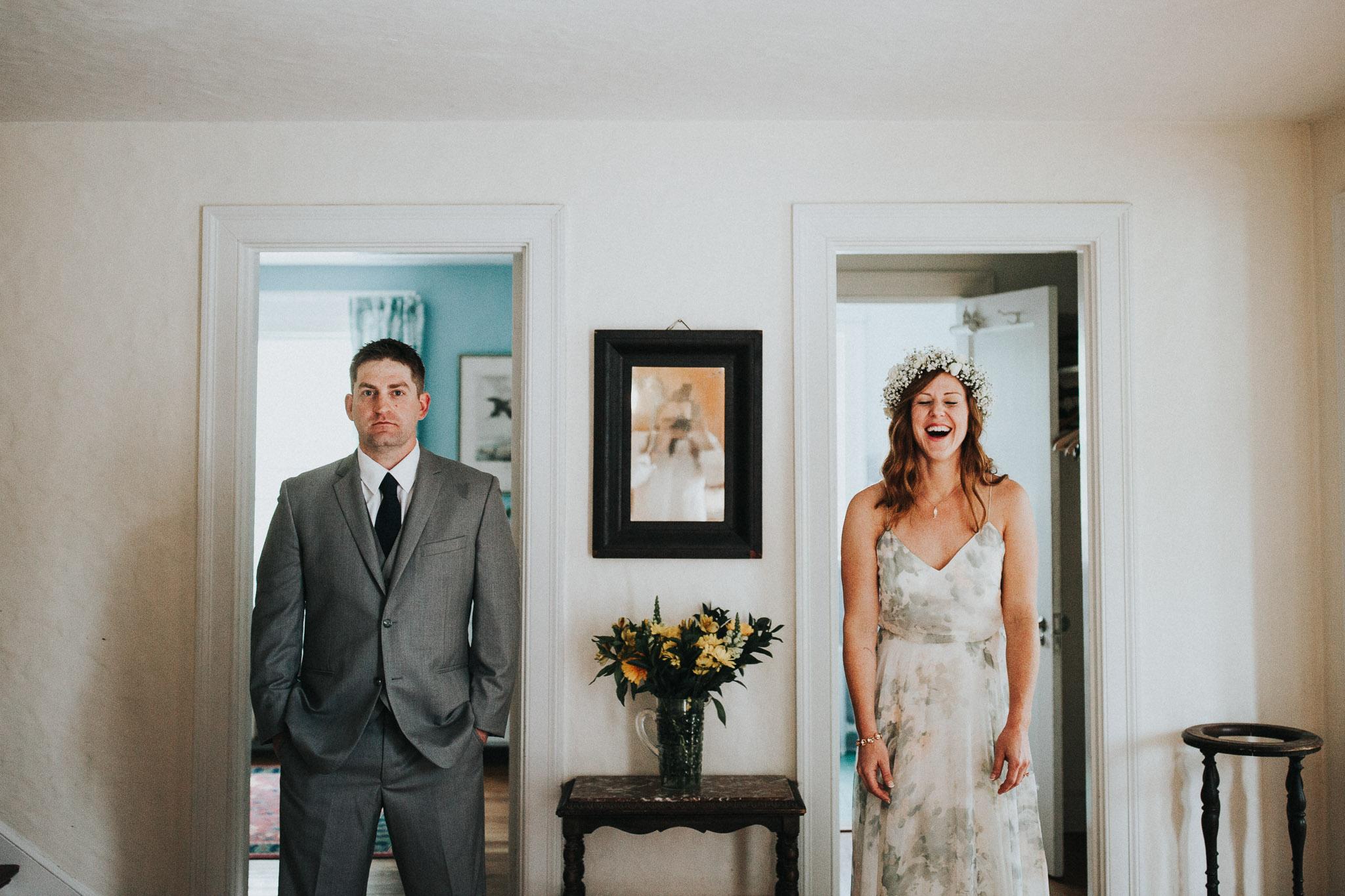 indoor wedding portraits