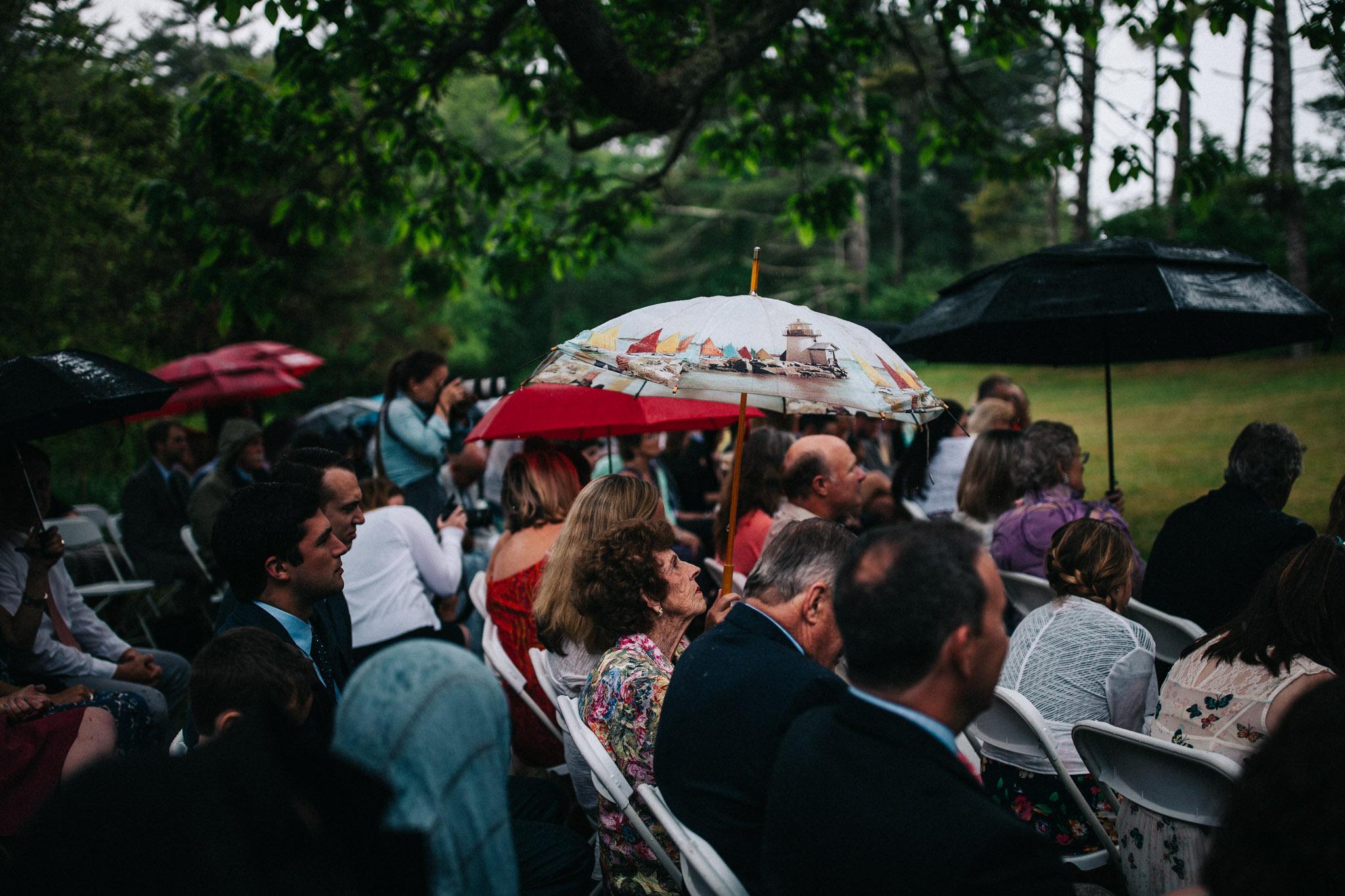 umbrella on wedding day