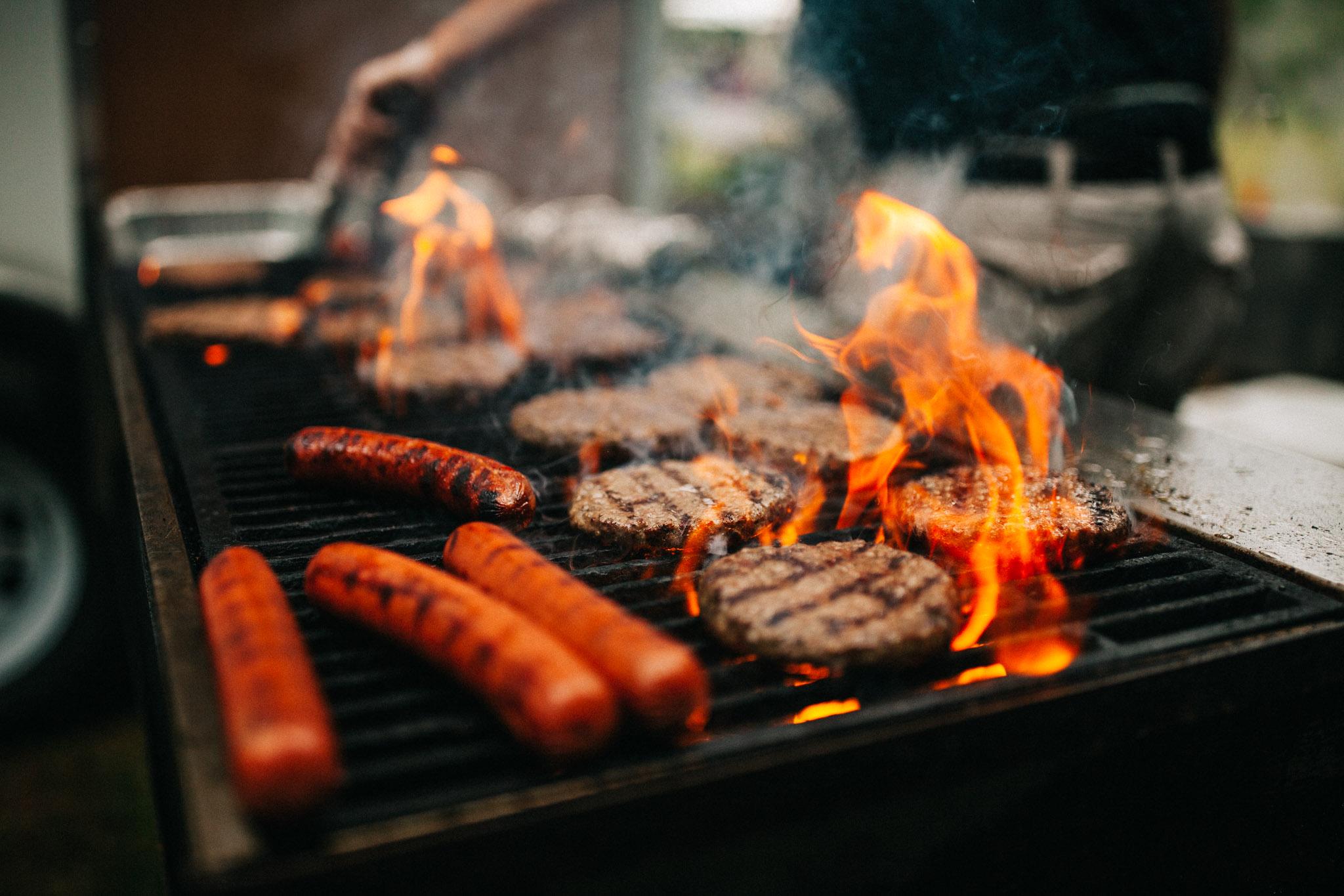 wedding burgers and hotdogs