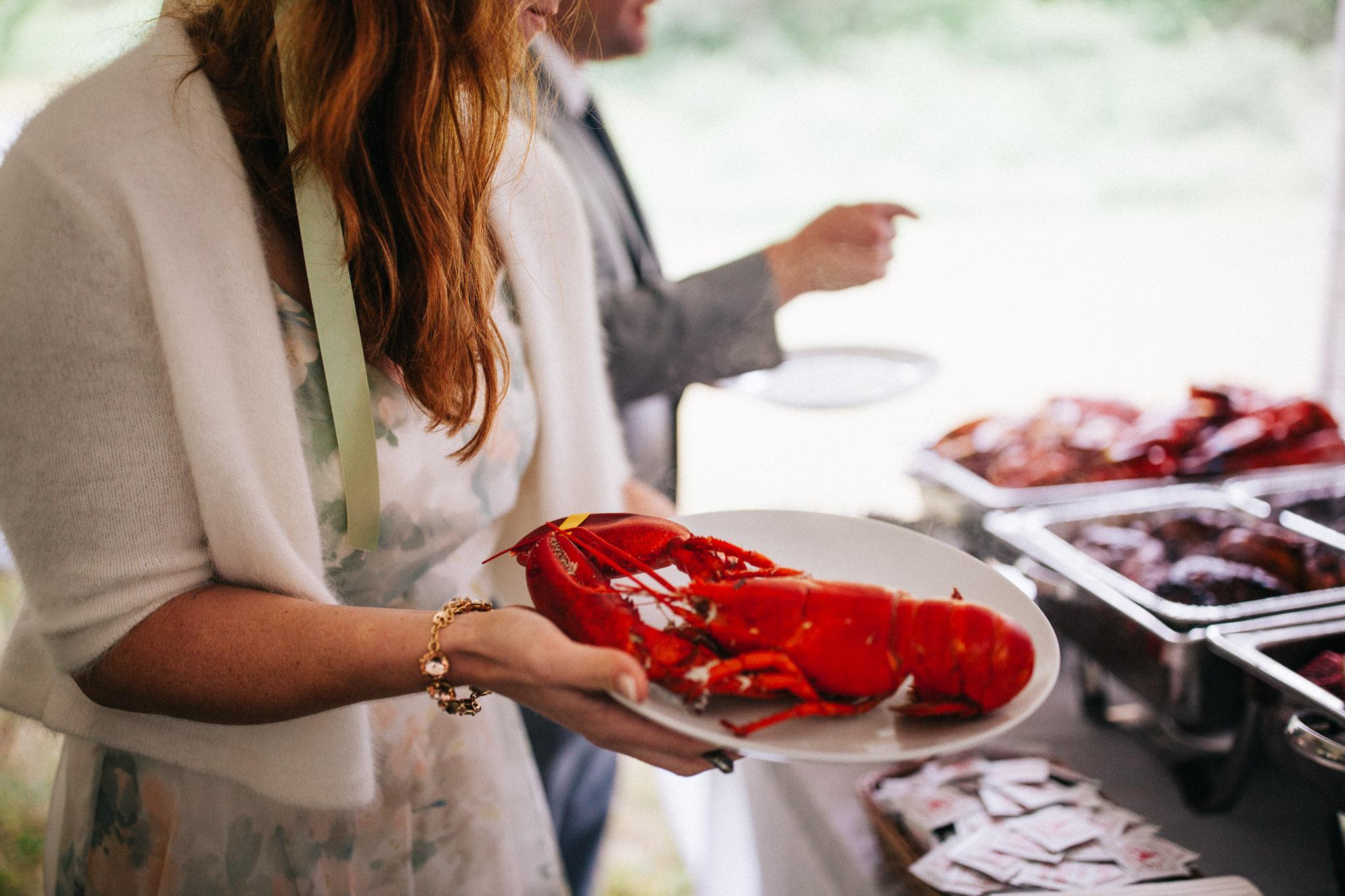 lobster at weddings
