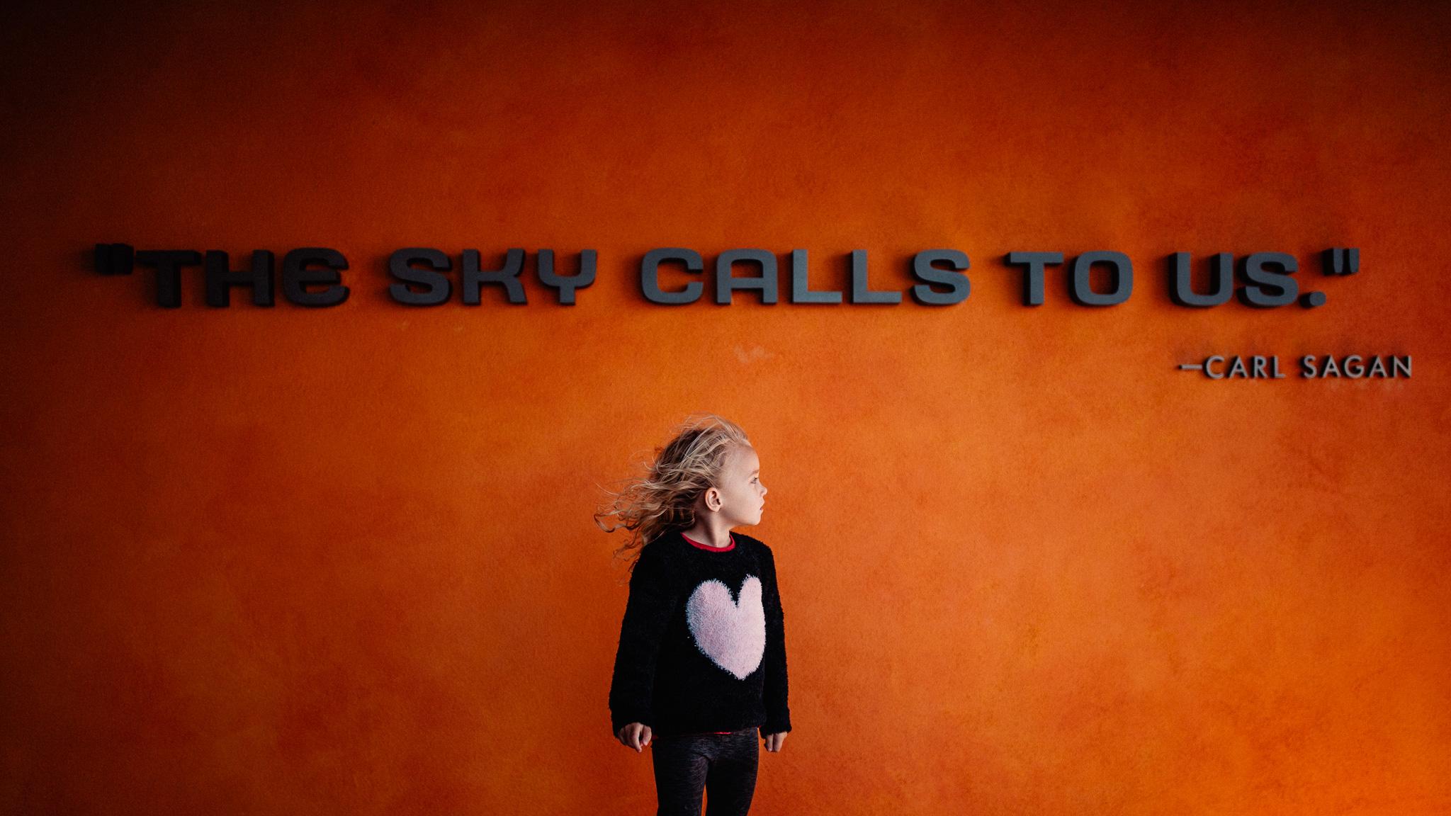 carl sagan quote the sky calls to us
