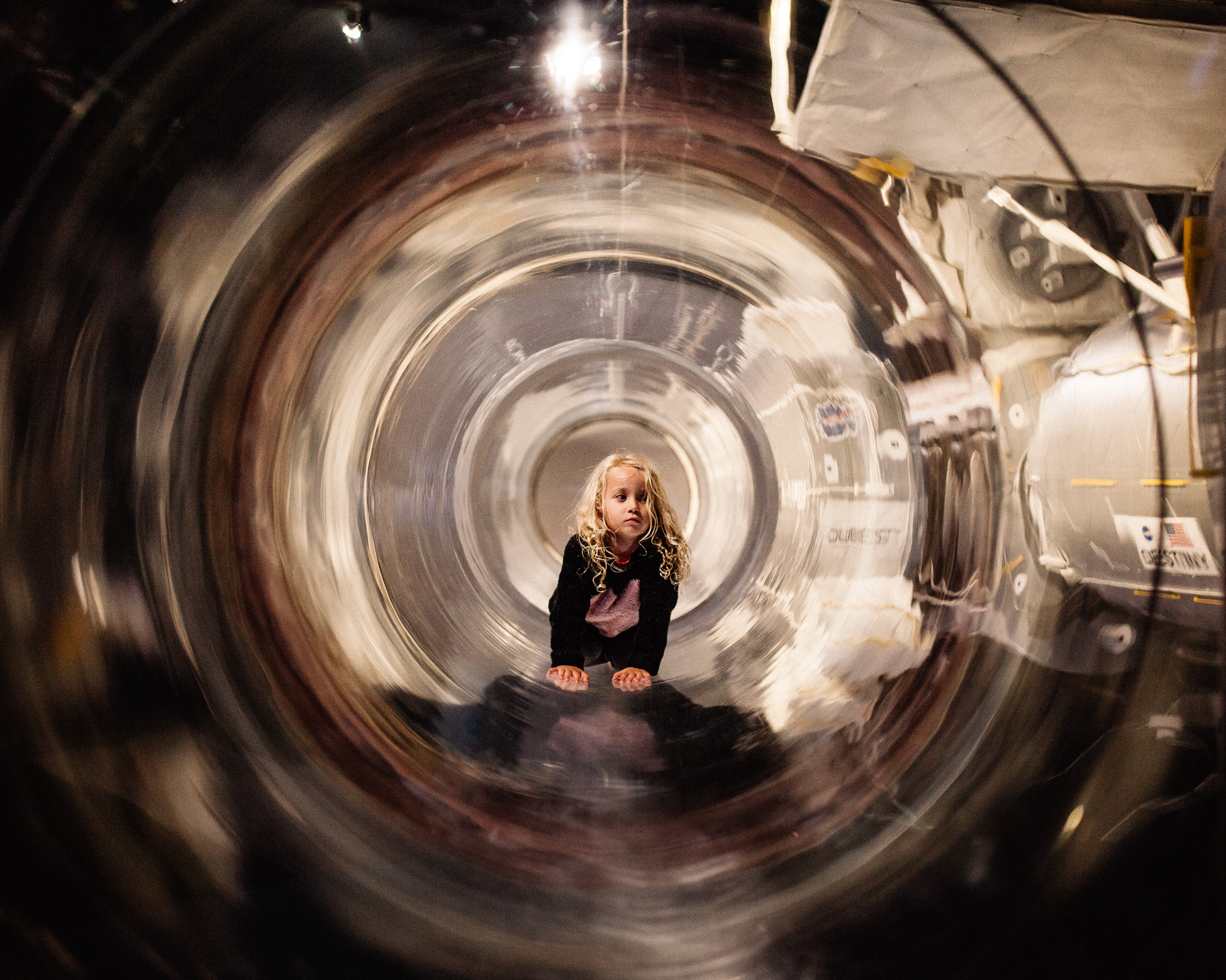 girl on space station