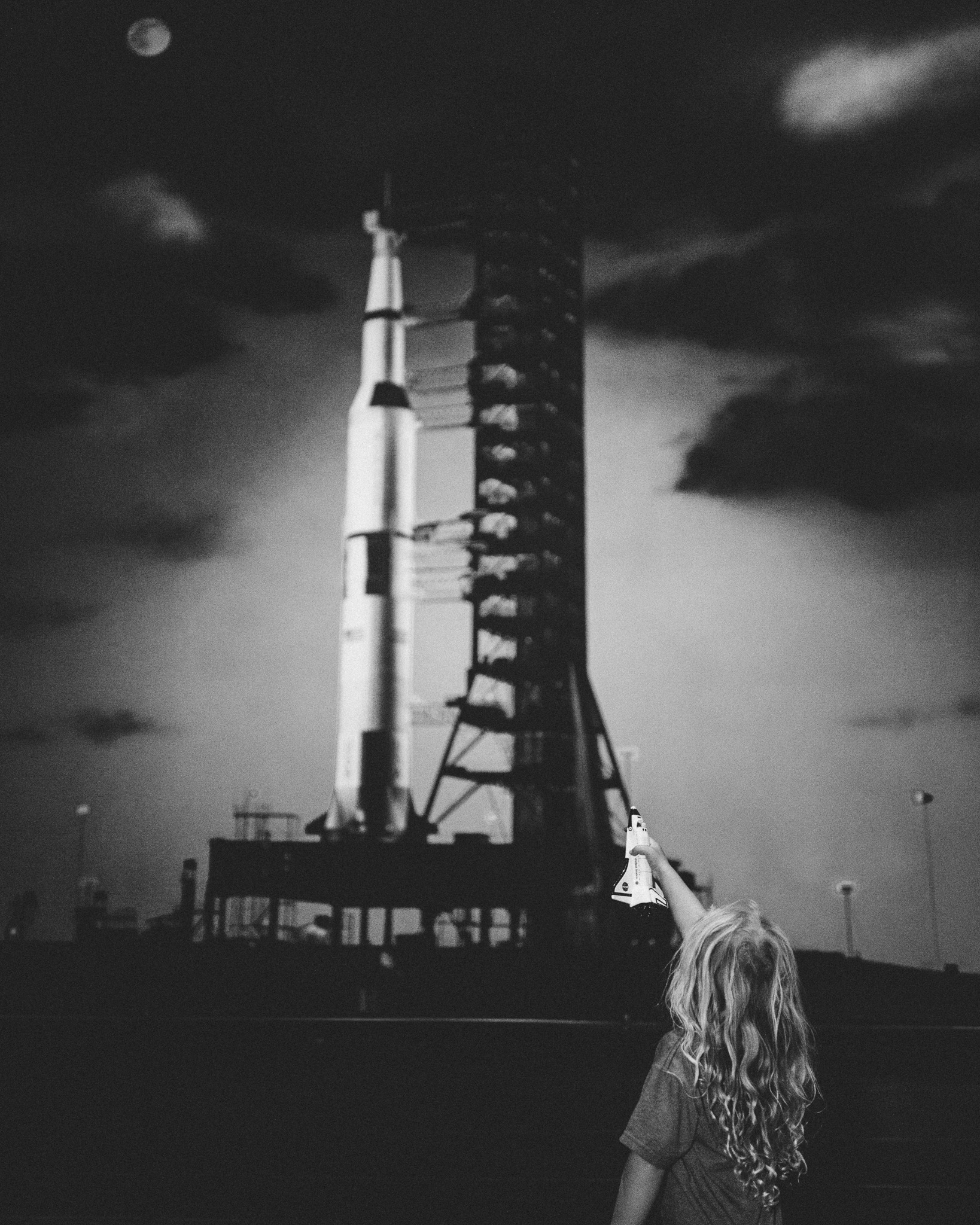 girl curious about space