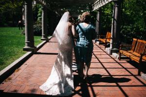 bride walking down the isle at boston elopement