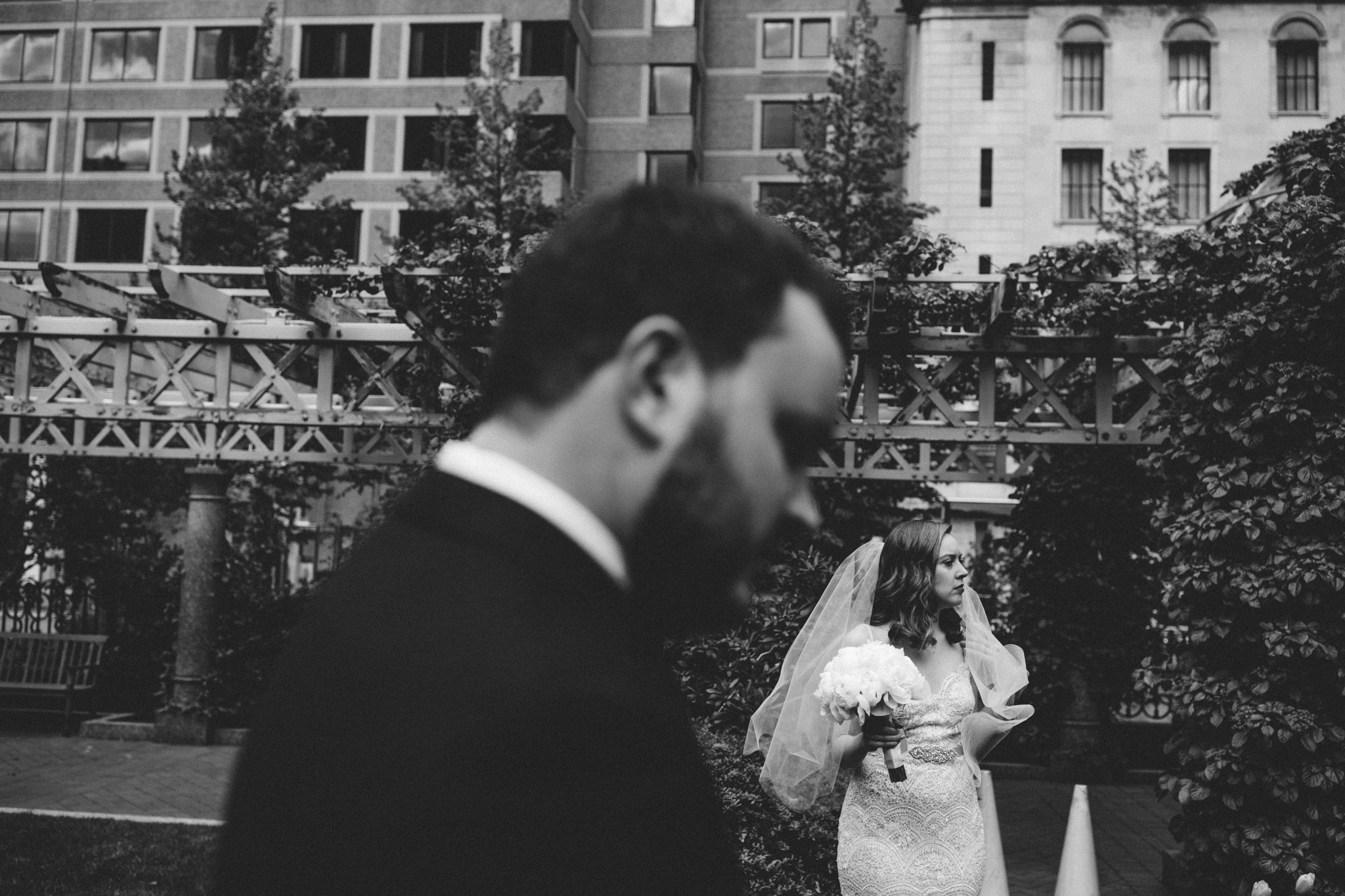bridal portrait at boston elopement