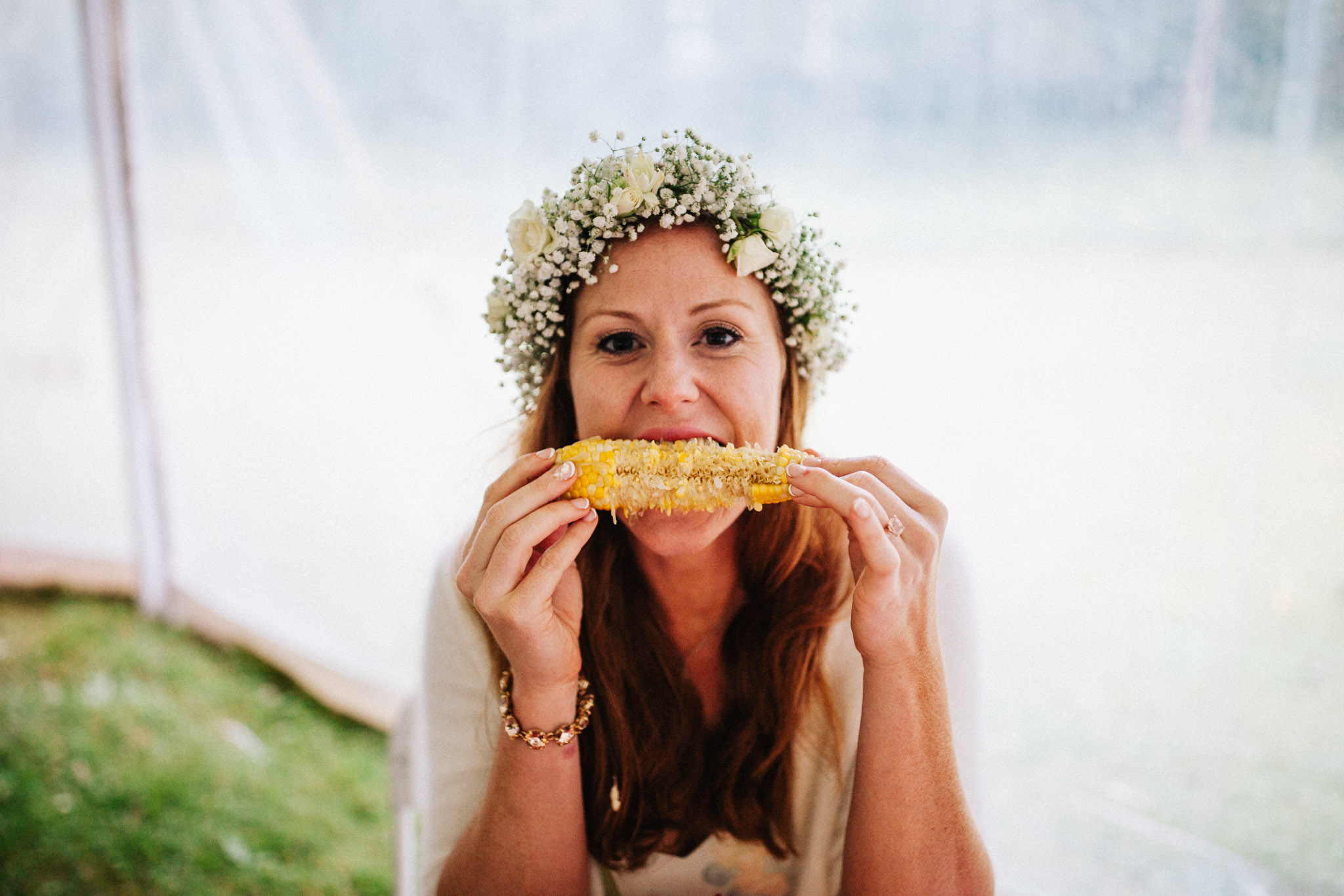 corn on the cob at weddings