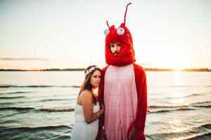 Fort Foster Engagement and a Lobster-011