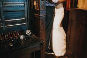 charles river museum wedding portrait