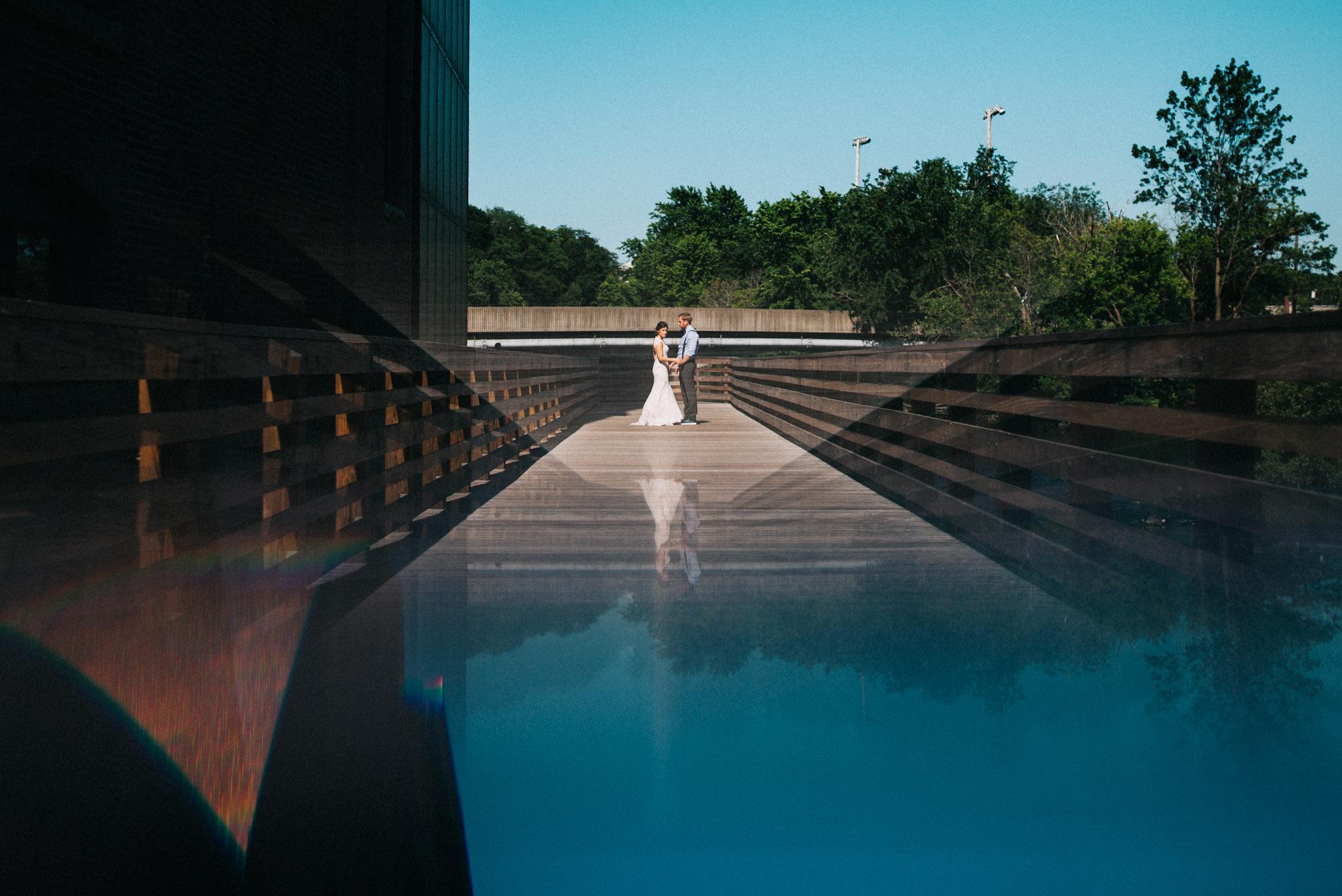 charles river prism wedding photo
