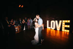 light up love wedding decoration