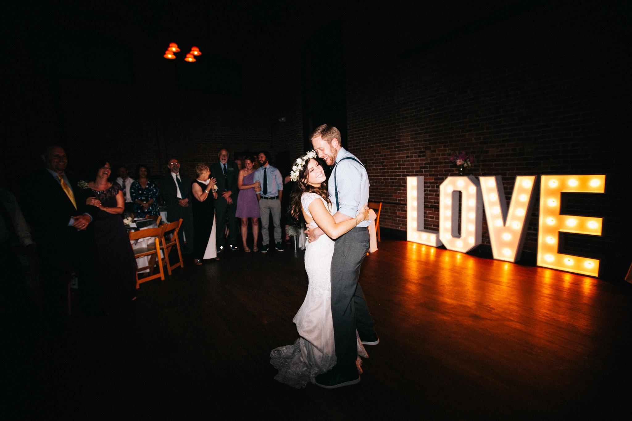 light up love wedding decoration