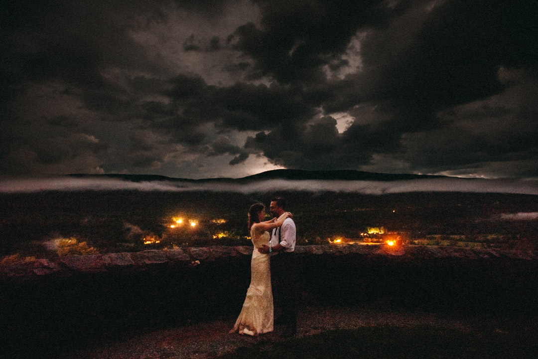Lightning storm at Wedding